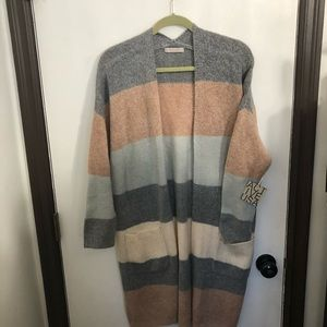 Long Open Front Cardigan Sweater size M/L NWT